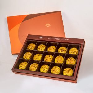 【Orange Gold】Curry Pork Mooncake 15 pcs Gift Box