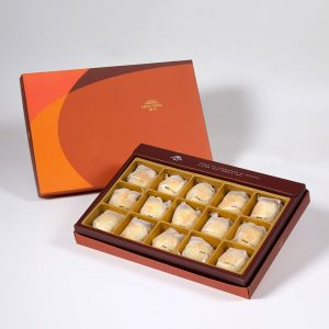 【Orange Gold】Golden Duel Beans Mooncake 15 pcs Gift Box