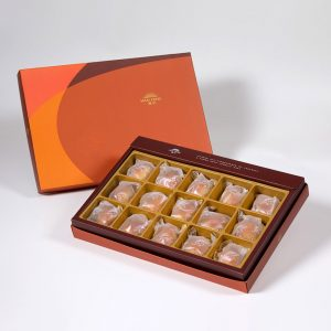 【Orange Gold】Caramel Chestnut Mooncake 15 pcs Gift Box