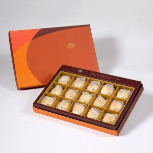 【Orange Gold】Mini Mung Bean Mooncake 15 pcs Gift Box