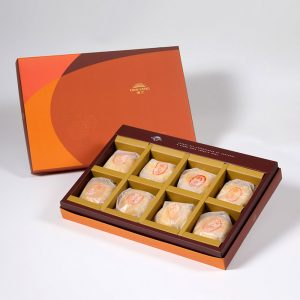 【Orange Gold】Pork Mung Bean Traditional Mooncake 8 pcs Gift Box