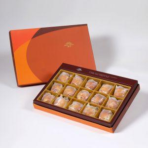 【Orange Gold】Salty Yolk Mung Bean Mooncake 15 pcs Gift Box