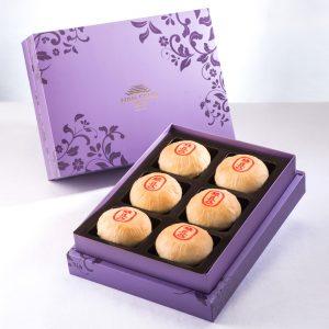 【Royal Purple】Pork Mung Bean Traditional Mooncake 6 pcs Gift Box