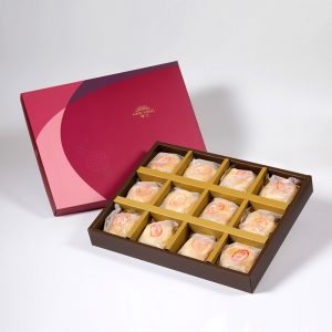 【Ruby Red】Pork Mung Bean Traditional Mooncake 12 pcs Gift Box