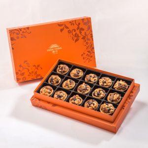 【Orange Gold】Mixed Nut Tart 15 pcs Gift Box