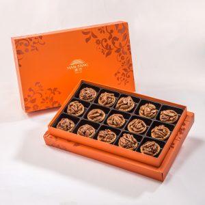 【Orange Gold】Coffee Pecan Nut Tart 15 pcs Gift Box