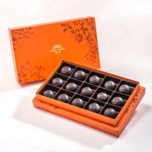 【Orange Gold】70% Belgium Chocolate Mooncake 15 pcs Gift Box