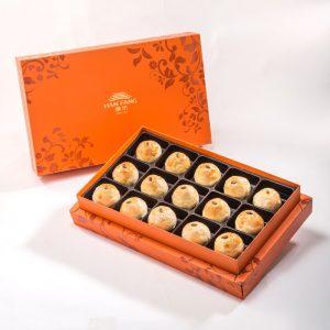 【Orange Gold】Golden Dates Mooncake 15 pcs Gift Box
