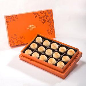 【Orange Gold】White Bean And Mung Bean Mixed Mooncake 15 pcs Gift Box