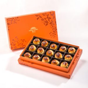 【Orange Gold】Red Bean With Mochi  15 pcs Gift Box