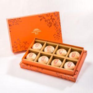 【Orange Gold】Mung Bean Traditional Mooncake 8 pcs Gift Box