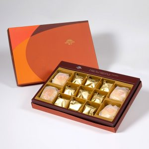 【Orange Gold】13 pcs Gift Box★Pork Mung Bean Traditional Mooncake*2+Mung Bean Traditional Mooncake*2+Traditional Pineapple Cake*9
