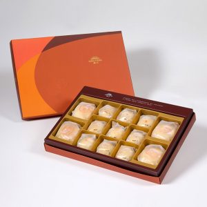 【Orange Gold】13 pcs Gift Box★Pork Mung Bean Traditional Mooncake*2+Mung Bean Traditional Mooncake*2+Mini Pork Mung Bean Mooncake*9