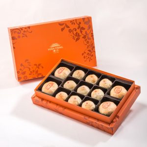【Orange Gold】13 pcs Gift Box★Pork Mung Bean Traditional Mooncake*2+Mung Bean Traditional Mooncake*2+Mini Pork Mung Bean Mooncake*9