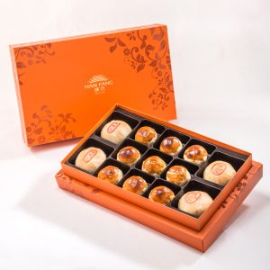 【Orange Gold】13 pcs Gift Box★Pork Mung Bean Traditional Mooncake*2+Mung Bean Traditional Mooncake*2+Salty Yolk Mung Bean Mooncake*9