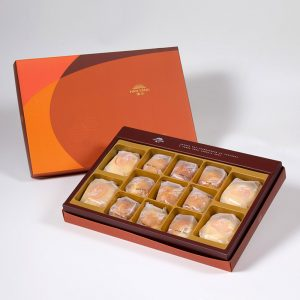 【Orange Gold】13 pcs Gift Box★Pork Mung Bean Traditional Mooncake*2+Mung Bean Traditional Mooncake*2+Salty Yolk Mung Bean Mooncake*9