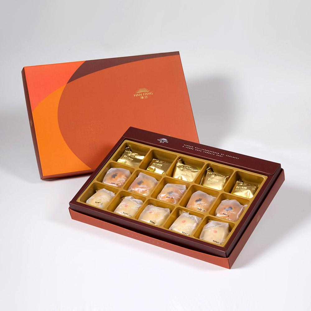 【御藏】綜合15入禮盒★土鳳梨酥5+金韻蛋黃酥5+綠豆小月餅5