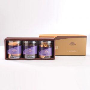 【Golden Elegancy】3 pcs Gift Box★Hand-made Almond Cookie+Almond Chocolate Cookie+Almond Milk Cookie
