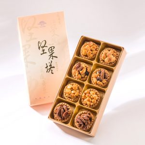 【Golden Elegancy】8 pcs Gift Box★Mixed Nut Tart*2+Macadamia Tart*2+Spicy Macadamia Tart*2+Coffee Pecan Tart*2