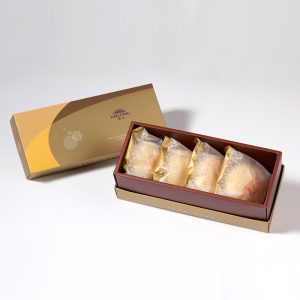 【Golden Elegancy】Pork Mung Bean Traditional Mooncake 4 pcs Gift Box