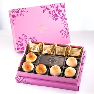 【Royal Purple】10 pcs Gift Box★Pineapple Cake*4+Salty Yolk Mung Bean Mooncake*3+Golden Duel Beans Mooncake*3