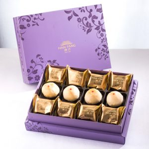 【Royal Purple】12 pcs Gift Box★Pineapple Cake*8+Mini Pork Mung Bean Mooncake*4