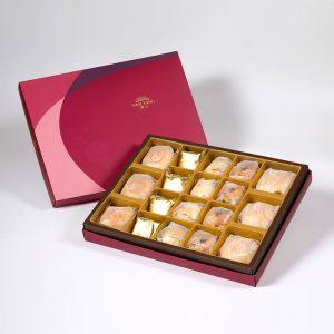 【Ruby Red】18 pcs Gift Box★Pork Mung Bean Traditional Mooncake*3+Mung Bean Traditional Mooncake*3+Traditional Pineapple Cake*4+Golden Salty Yolk Duels Mooncake*4+Mini Pork Mung Bean Mooncake*4