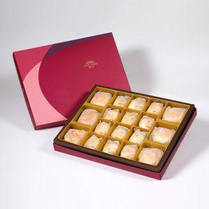 【Ruby Red】18 pcs Gift Box★Pork Mung Bean Traditional Mooncake*3+Mung Bean Traditional Mooncake*3+Mini Pork Mung Bean Mooncake*12