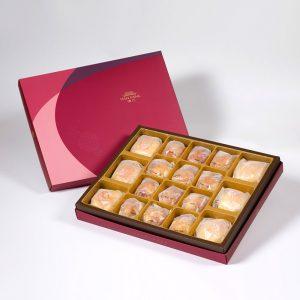 【Ruby Red】18 pcs Gift Box★Pork Mung Bean Traditional Mooncake*3+Mung Bean Traditional Mooncake*3+Salty Yolk Mung Bean Mooncake*12