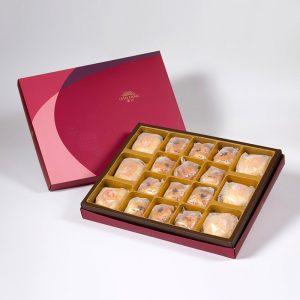 【Ruby Red】18 pcs Gift Box★Pork Mung Bean Traditional Mooncake*3+Mung Bean Traditional Mooncake*3+Golden Salty Yolk Duels Mooncake*12