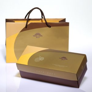 【Golden Elegancy 】6 pcs Gift Box★Pineapple Cake*1+Salty Yolk Mung Bean Mooncake*1+Golden Duel Beans Mooncake*1+Pork Mung Bean Traditional Mooncake*1+Mung Bean Traditional Mooncake*1+Golden Salty Yolk Duels Mooncake*1