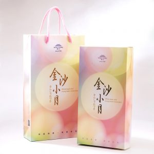 【Golden Elegancy】8 pcs Gift Box★White bean and mung bean moo cake*4 + Mung bean yolk pastry*4