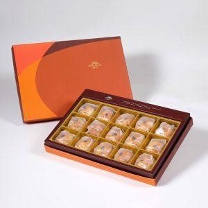 【Orange Gold】Okinawa Brown Sugar Salty Yolk Duels Mooncake 15 pcs Gift Box