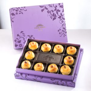 【Royal Purple】Date Paste and Walnut Mooncake 10 pcs Gift Box