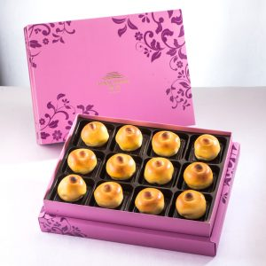 【Royal Purple】Date Paste and Walnut Mooncake 12 pcs Gift Box