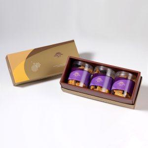 【御點】杏福燒手工餅乾3入禮盒(蛋奶素)