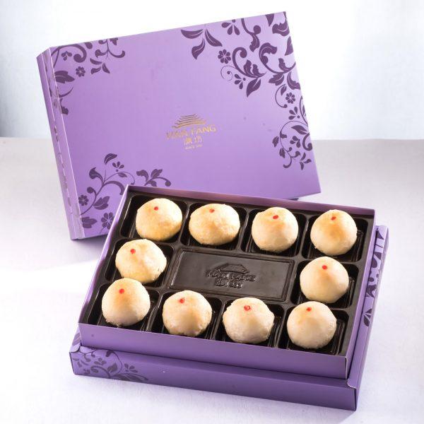 【臻饌七十周年限量款】綠豆小月餅10入禮盒(紫)