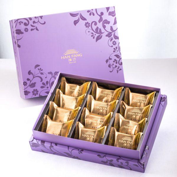 【臻饌七十周年限量款】鳳梨核桃12入禮盒(紫)