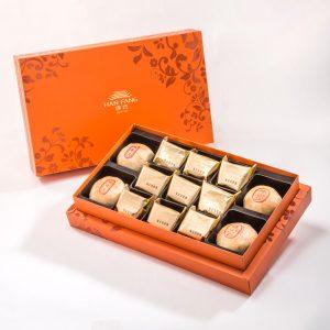 【御藏】綜合13入禮盒★綠豆椪*2+純綠豆椪*2+鳳梨酥*9(除綠豆椪外,其餘產品為蛋奶素)