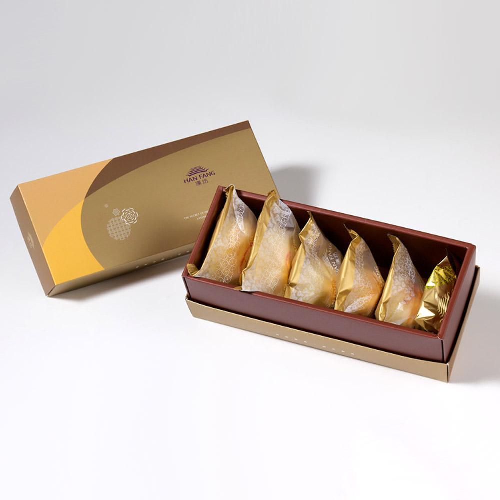 【御點】綜合6入禮盒★鳳梨酥+蛋黃酥+漢坊金沙小月+綠豆椪+純綠豆椪+金韻蛋黃酥