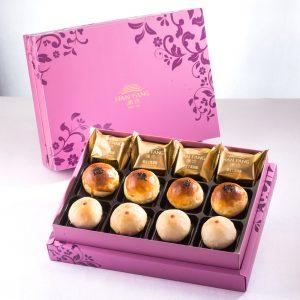 【臻饌】綜合12入禮盒★土鳳梨酥*4+金韻蛋黃酥*4+綠豆小月餅*4(蛋奶素)