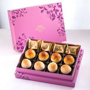 【臻饌】綜合12入禮盒★鳳梨酥*4+蛋黃酥*4+金沙小月*4(蛋奶素)