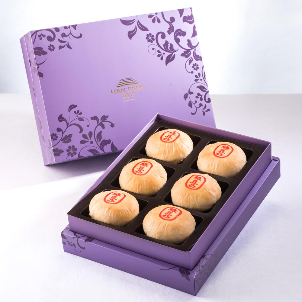 【臻饌七十周年限量款】綠豆椪6入禮盒(紫)