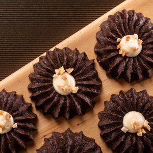 酸酸甜甜的滋味【雲朵曲奇-優格巧克力】蛋奶素